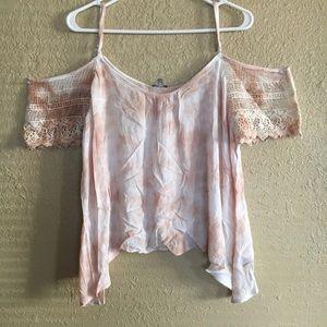 Tie dye off the shoulder blouse